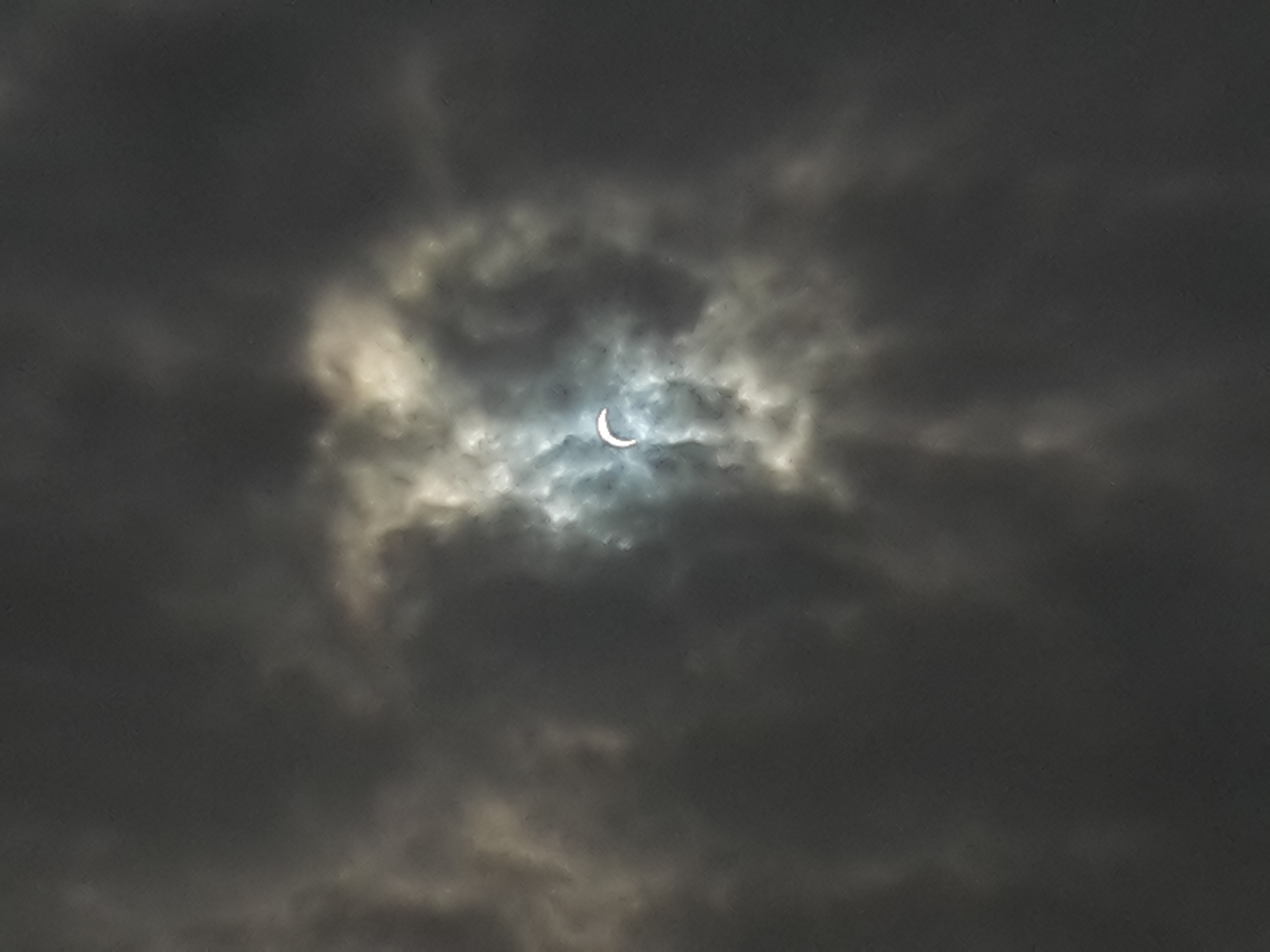 Solar eclipse in March 2015 at Preston. Image credit: Timo Laitinen