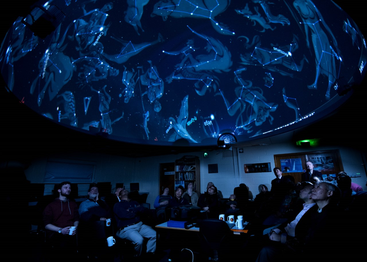 Planetarium show at Alston Observatory, Preston. Image credit: Mark Norris